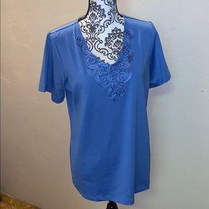 NWOT Susan Graver short sleeve pullover